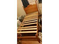 single bed solid wooden frame