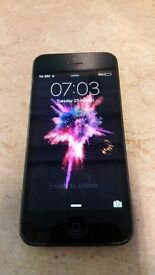 phone 5 in black 16GB works on ee. In good condition. everything works fine.