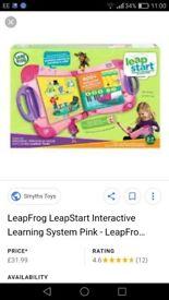 Brand new leapfrog leapstart learning system pink