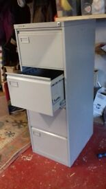 Filing cabinet. 4 drawer Roneo Vickers in grey