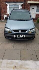 Vauxhall zafira 1.6 life good condition for year part service history. 8 months mot