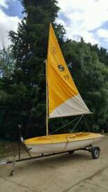 Sailig boat with trailer