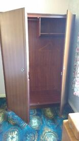 Wooden solid wardrobe (double)