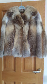Beautiful red fox fur jacket