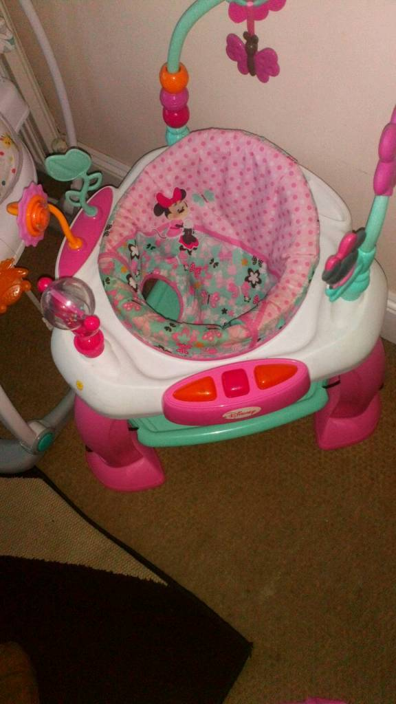 9c508bae3006 Disney Minnie mouse baby bouncer jumperoo