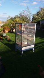 2 large chinchilla cages 4 floors 1m53cm high 0.55 cm wide