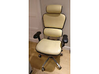 Ergohuman Office Chair Cream Leather