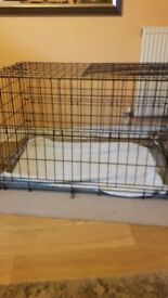 To sell a large dog cage.The cage easily folds ans breaks.