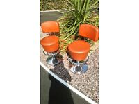 Genuine retro swivel stools - in excellent condition - 82cms high