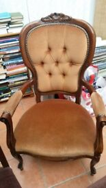 Repro Victorian Style Chair