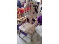 Large lovely wooden chair in good condition, high back and