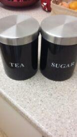Tea And Sugar Cannistors.