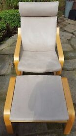 Relaxer Chair with Footstool