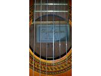 Terada - Full Size Classical Guitar - Made in Japan - Hiscox case - Tuner
