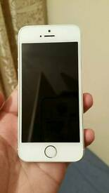 IPhone 5s Silver color unlocked excellent condition like new