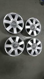Audi TT alloys / alloy wheels. 5x100. 7x16 et31. Fabia, Polo, Golf, Ibiza, A3, Leon, Octavia.