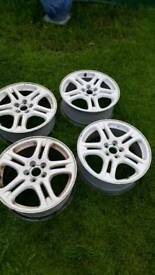 17inch white alloys no tyres