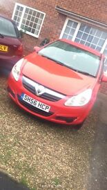 Vauxhall corsa club RED 1.2 petrol. Great for first car, run around or everyday use!