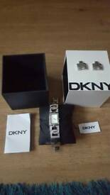 Ladies silver and diamond DKNY watch