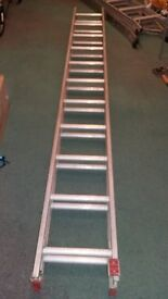 Two piece 20ft Aluminium Ladder