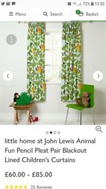 John Lewis nursery curtains and lightshade