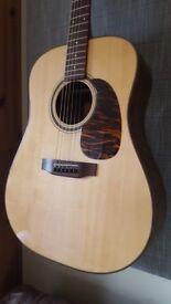 BSG D14F all solid dreadnought hand built acoustic guitar
