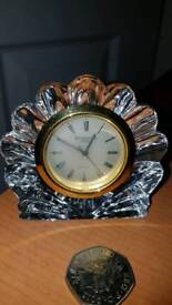 WATERFORD CRYSTAL SHELL CLOCK