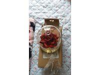 Light up rose in glass jar