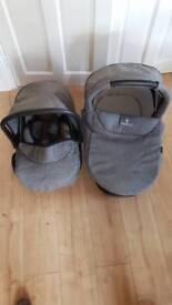 Venicci car seat & carry cot