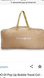 Samsonite pop up travel cot