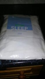 white fitted single sheet new
