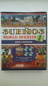 Beginner Spanish course with CDs. Never been used.