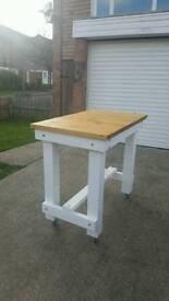 Farmhouse table butchers block rustic
