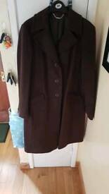 Brown Laura Ashley winter coat