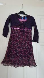 Adams Purple Dress with cardigan 2pc Set 18-24mths