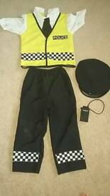Police fancy dress outfit, kids age 4-6