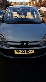 PEUGEOT 807 2003 DIESEL 7 SEATER SILVER LEATHER INTERIOR SPARES CLUTCH GONE