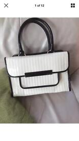 Ted baker ladies bag cream and black