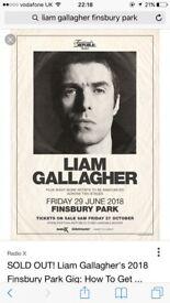 LIAM GALLAGHER Finsbury Park