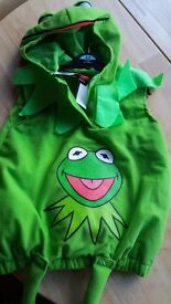 Kermit the Frog costume 3-4 years BNWT