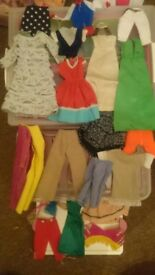 Lot Bundle Old 60s 70s 80s Sindy + Barbie Clothes