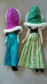 Anna and elsan doll with coats