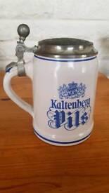 Good condition German beer stein with Kaltenberg Pils beer logo