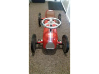 Childs Red Metal Racing Car, excellent condition