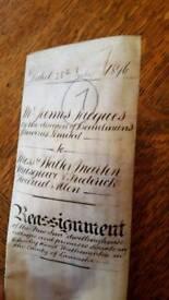 Antique Indenture Deed - 1896