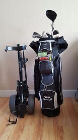 Slazenger Golf Clubs, Bag and Trolley