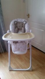Reclining Highchair from mothercare