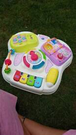 Girls pink activity table