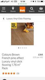 11 packs of French pine effect luxury click vinyl flooring