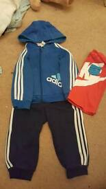 Adidas tracksuit age 9-12 months